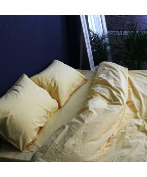 Постельное белье поплин Насыщенный желтый