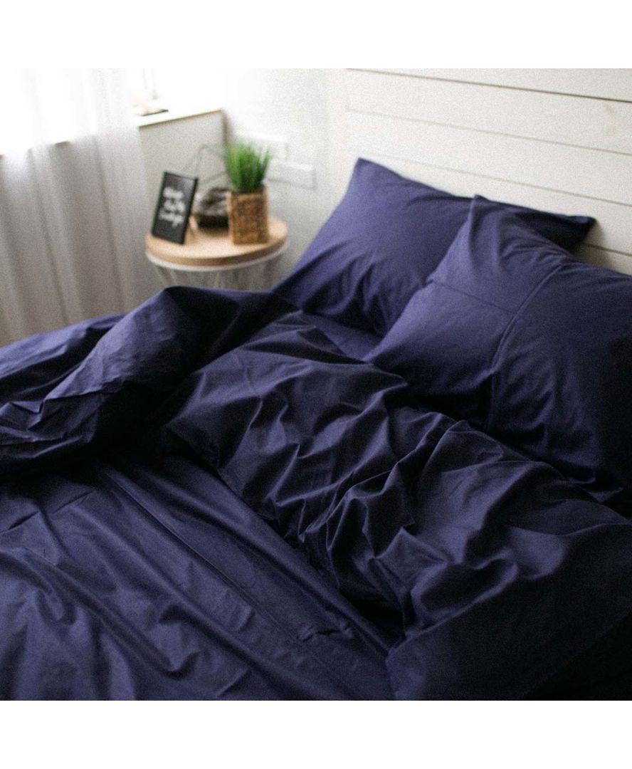 Постельное белье поплин Темно-синий