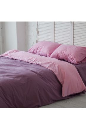 Постельное белье поплин Виолет/Розовый