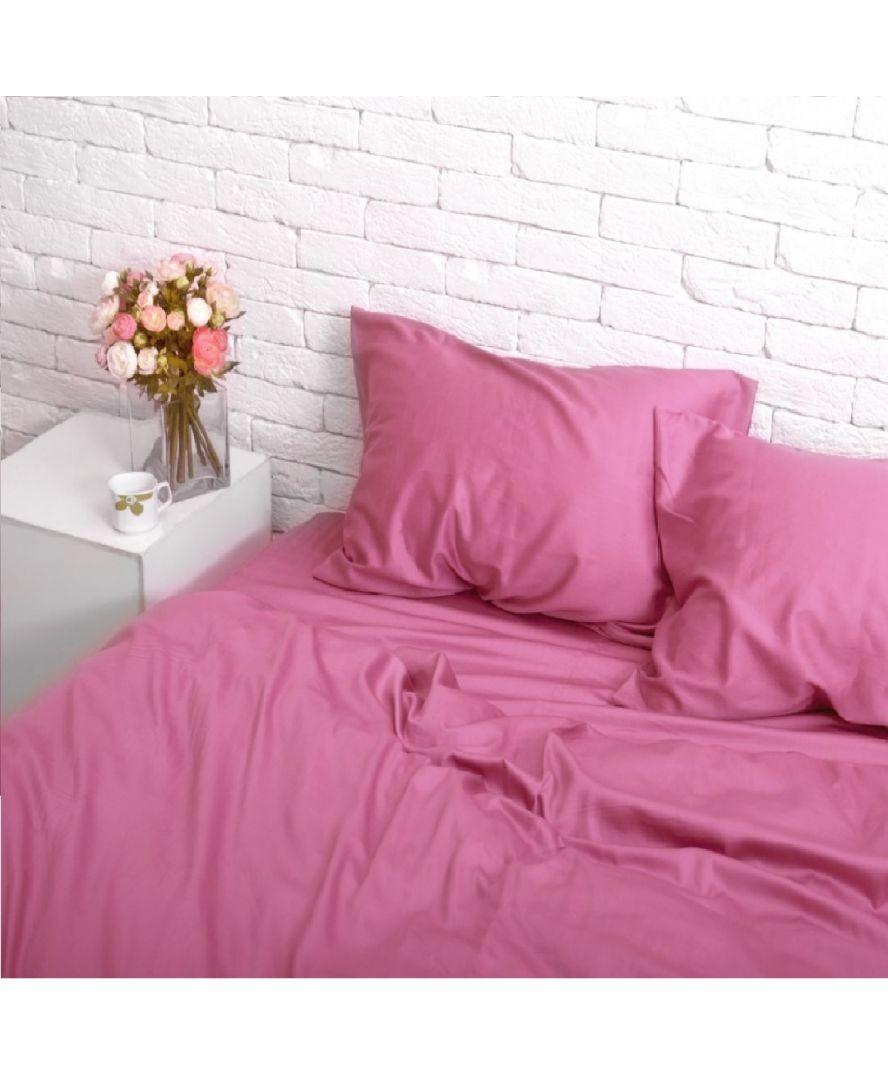 Постельное белье сатин Розовый