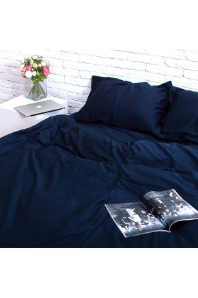 Постельное белье сатин Темно-синее