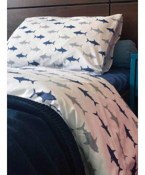 Комплект постельного белья детский Акулы