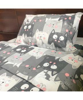 Комплект постельного белья детский Котики