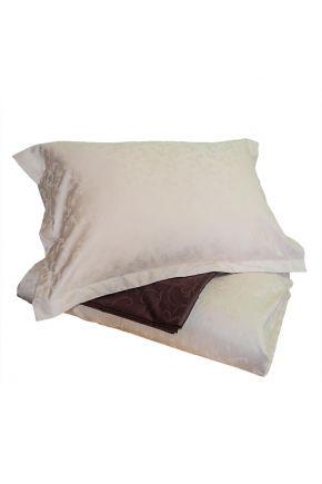 Комплект постельного белья жаккард Кофе с молоком