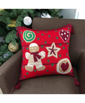 Наволочка новорічна Печиво червоне