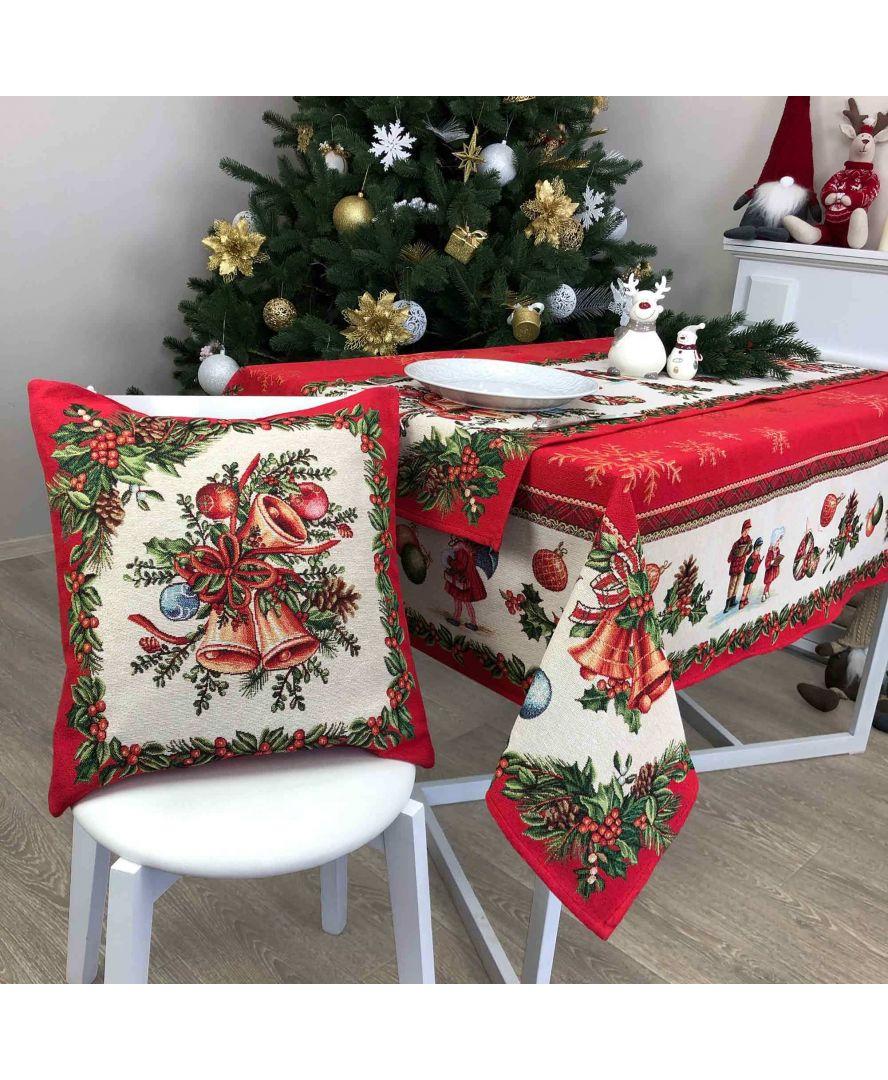Гобеленовая подушка новогодняя Праздник