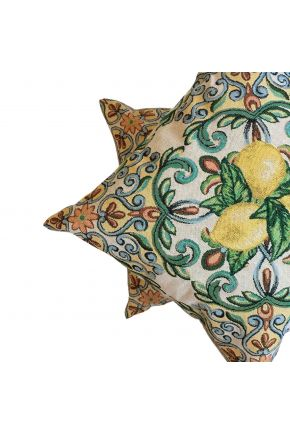 Гобеленовая подушка Lemon