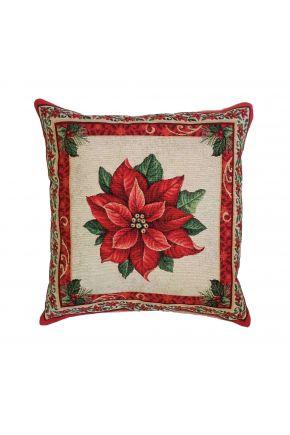 Гобеленовая подушка новогодняя Рождество
