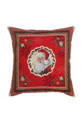 Гобеленовая наволочка новогодняя Санта