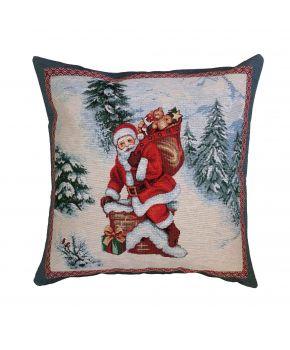 Гобеленовая подушка новогодняя Лапландия
