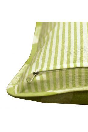 Декоративная наволочка Кантри зеленая
