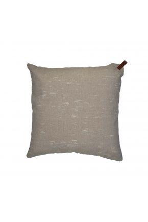 Декоративная подушка NEW Camel с кожаным хлястиком
