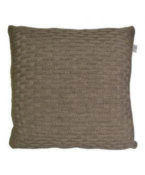 Декоративная вязаная наволочка шато орех
