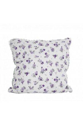 Наволочка декоративная Lilac Rose с кружевом