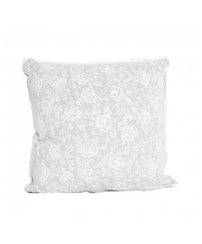 Наволочка декоравтиная White Rose с кружевом