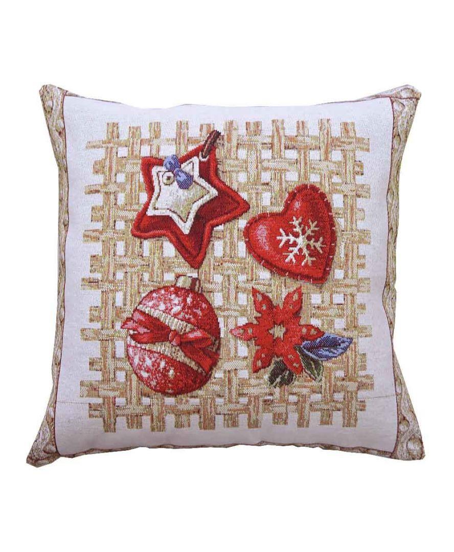 Гобеленовая подушка новогодняя Пряности