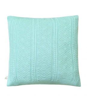 Вязаная подушка Ажурная тиффани