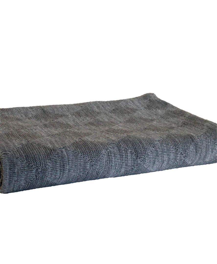Вязаный плед Comfort серый