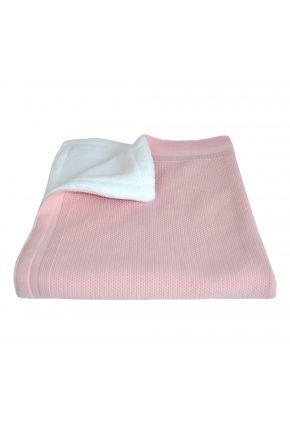Детский плед  с плюшем Розовый