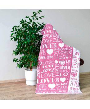 Вязаный плед Big Love розовый