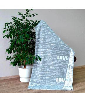 Вязаный плед Little Love серый