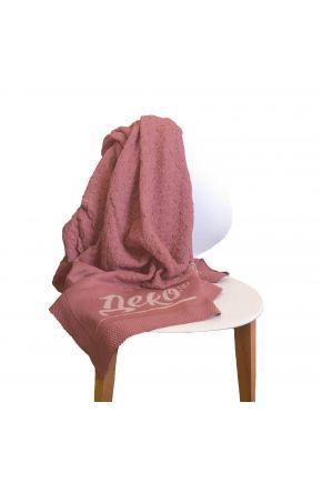Плед вязаный с логотипом Деко