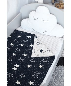 Детский плед  Stars синий с белым