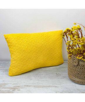Декоративна подушка в'язана Вiнтаж сонце