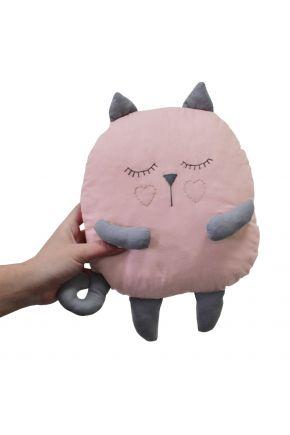 Подушка игрушка Кошечка розовая