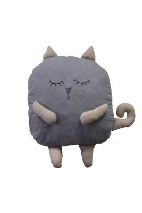 Подушка игрушка Кот серый