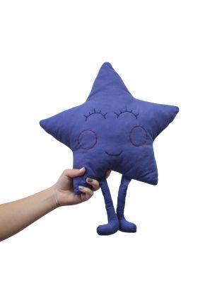Подушка игрушка Звезда синяя