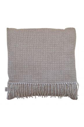 Декоративная подушка ANDGERS beige с бахромой
