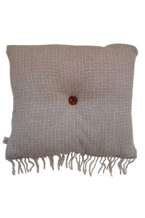 Декоративная подушка ANDGERS beige с пуговкой