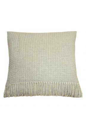 Декоративная подушка ANDGERS grey с бахромой
