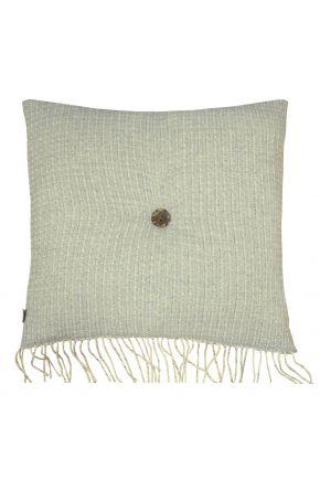 Декоративная подушка ANDGERS grey с пуговкой