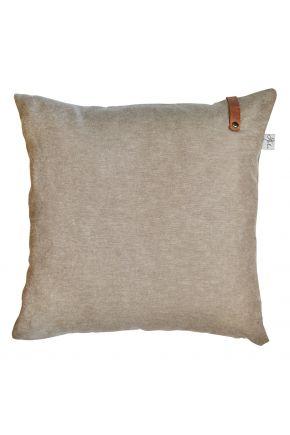 Декоративная подушка Camel с кожаным декором