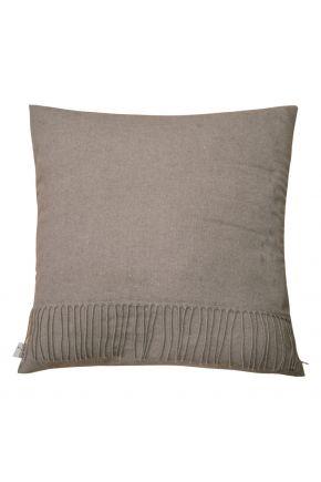 Декоративная подушка DIJON brown с бахромой