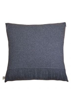 Декоративная подушка DIJON grafit с бахромой