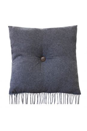 Декоративная подушка DIJON grafit с пуговкой