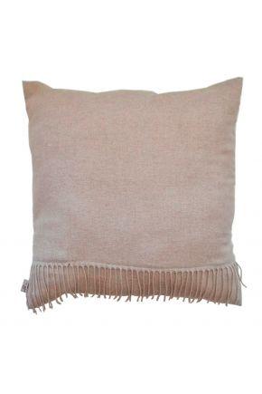 Декоративная подушка DIJON nature с бахромой