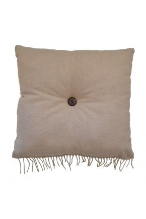 Декоративная подушка DIJON nature с пуговкой