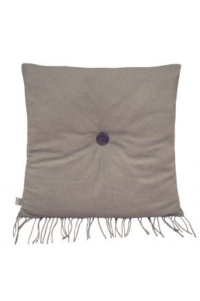 Декоративная подушка DIJON brown с пуговкой