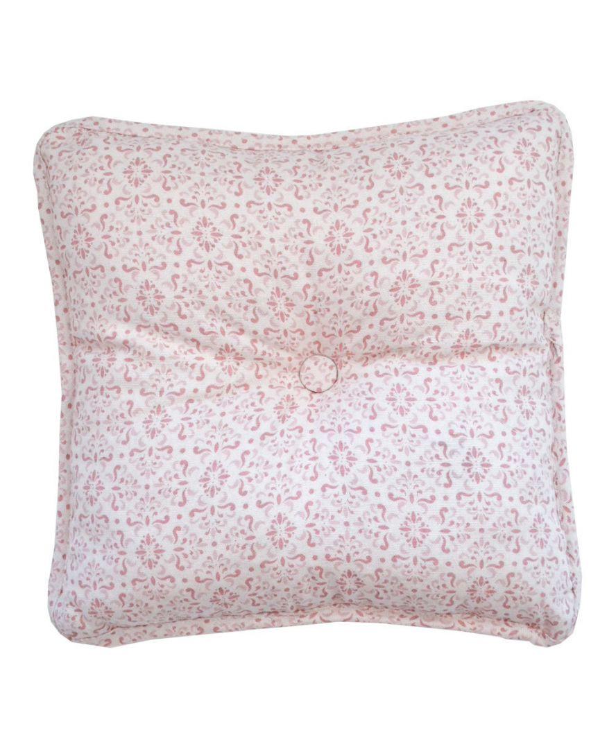 Декоративная подушка с пуговкой Bella Розовый витраж