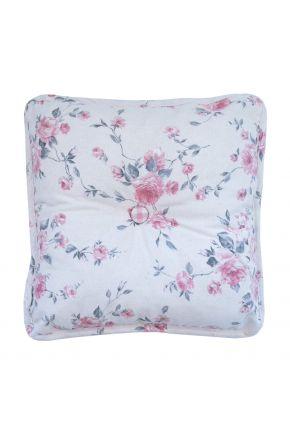 Декоративная подушка с пуговкой Bella Розы