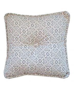 Декоративная подушка с пуговкой Bella Серый витраж