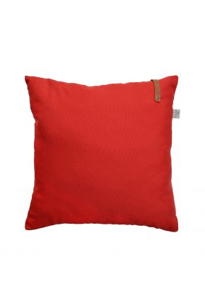 Декоративная подушка Scarlet с кожаным декором