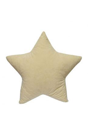 Диванная подушка в форме звездочки бежевая