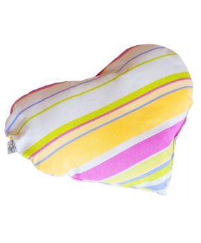 Диванная подушка сердце Stripe