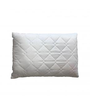 Подушка для сна стеганая белая