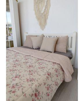 Покрывало на кровать Bella Розы/Розовый витраж
